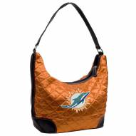 Miami Dolphins Quilted Hobo Handbag