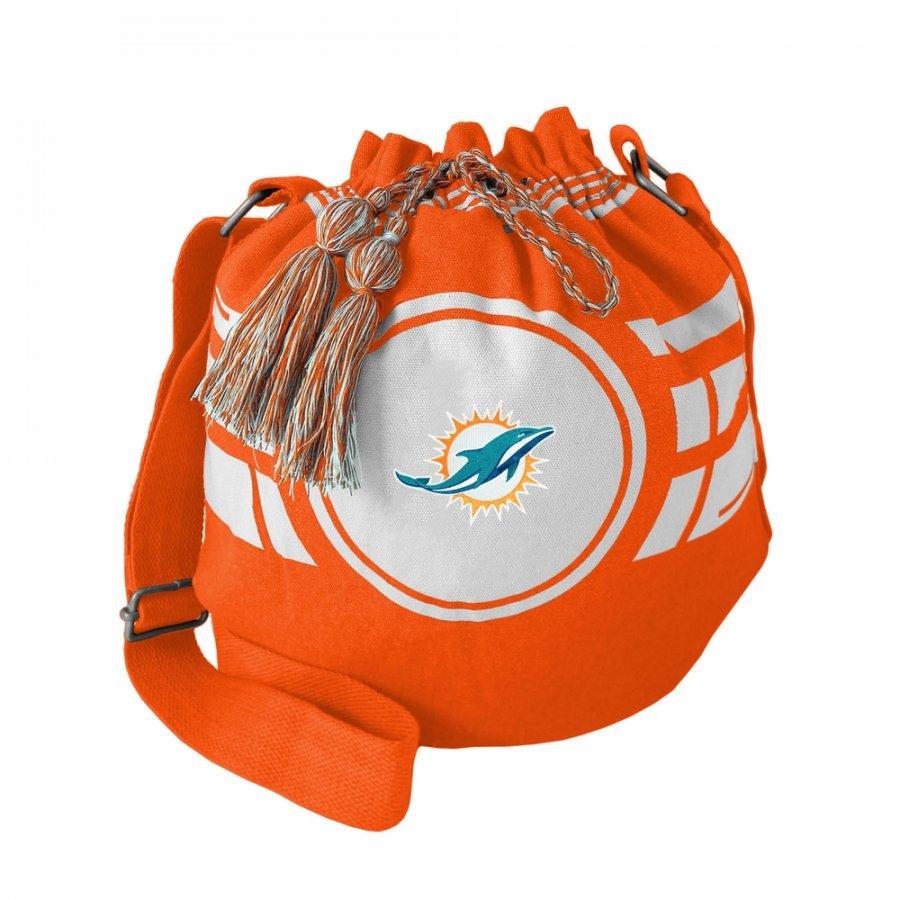 Miami Dolphins Ripple Drawstring Bucket Bag