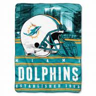 Miami Dolphins Silk Touch Stacked Blanket