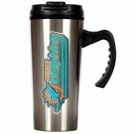 Miami Dolphins Slim Stainless Steel Travel Mug