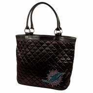 Miami Dolphins Sport Noir Quilted Tote