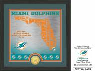 Miami Dolphins State Bronze Coin Photo Mint