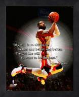 Miami Heat Dwyane Wade Framed Pro Quote