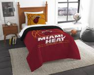 Miami Heat Reverse Slam Twin Comforter Set