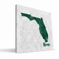 "Miami Hurricanes 12"""" x 12"""" Home Canvas Print"