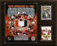 "Miami Hurricanes 12"" x 15"" All-Time Greats Photo Plaque"