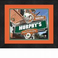 Miami Hurricanes 13 x 16 Personalized Framed Sports Pub Print