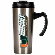 Miami Hurricanes 16 oz. Stainless Steel Travel Mug