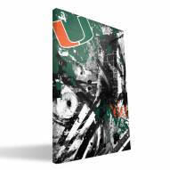 "Miami Hurricanes 16"""" x 24"""" Spirit Canvas Print"