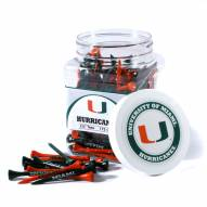 Miami Hurricanes 175 Golf Tee Jar