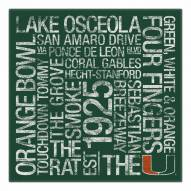 "Miami Hurricanes 18"" x 18"" Canvas Subway Art"