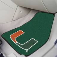 Miami Hurricanes 2-Piece Carpet Car Mats