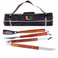 Miami Hurricanes 3 Piece BBQ Set