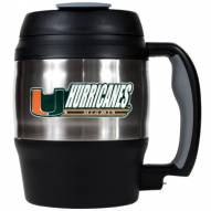 Miami Hurricanes 52 oz. Stainless Steel Travel Mug