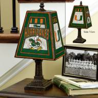 Miami Hurricanes Art Glass Table Lamp
