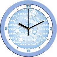 Miami Hurricanes Baby Blue Wall Clock