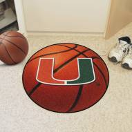 Miami Hurricanes Basketball Mat