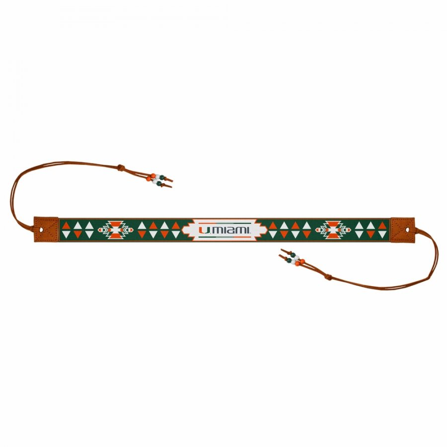 Miami Hurricanes Beaded Headwrap