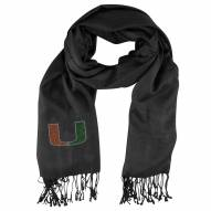 Miami Hurricanes Black Pashi Fan Scarf