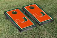 Miami Hurricanes Border Cornhole Game Set
