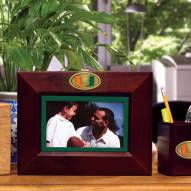 Miami Hurricanes Brown Landscape Picture Frame