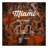 Miami Hurricanes Canvas Logo Art