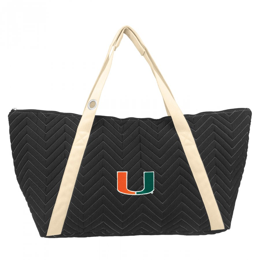 Miami Hurricanes Chevron Stitch Weekender Bag