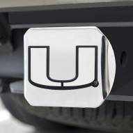 Miami Hurricanes Chrome Metal Hitch Cover