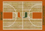 Miami Hurricanes College Home Court Area Rug