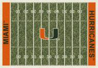Miami Hurricanes College Home Field Area Rug