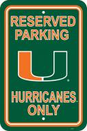 Miami Hurricanes College Parking Sign