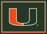 Miami Hurricanes College Team Spirit Area Rug