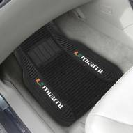Miami Hurricanes Deluxe Car Floor Mat Set