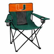 Miami Hurricanes Elite Tailgating Chair