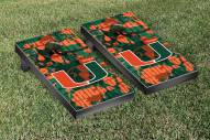 Miami Hurricanes Fight Song II Cornhole Game Set