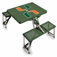 Miami Hurricanes Folding Picnic Table