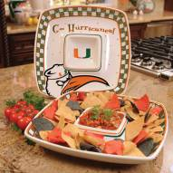 Miami Hurricanes Gameday Chip N Dip Dish