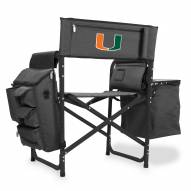 Miami Hurricanes Gray/Black Fusion Folding Chair