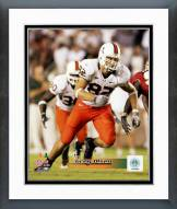 Miami Hurricanes Greg Olsen 2005 Action Framed Photo