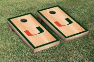 Miami Hurricanes Hardcourt Cornhole Game Set