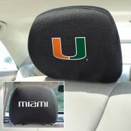 Miami Hurricanes Headrest Covers