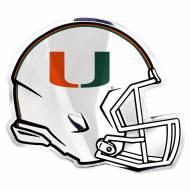 Miami Hurricanes Helmet Car Emblem