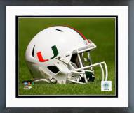 Miami Hurricanes Helmet Framed Photo