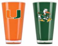 Miami Hurricanes Home & Away Tumbler Set