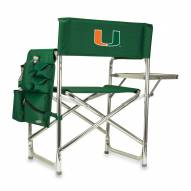 Miami Hurricanes Hunter Green Sports Folding Chair