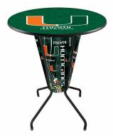 Miami Hurricanes Indoor/Outdoor Lighted Pub Table