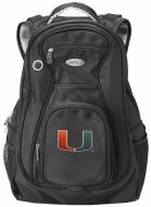 Miami Hurricanes Laptop Travel Backpack