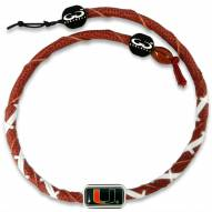 Miami Hurricanes Leather Football Necklace