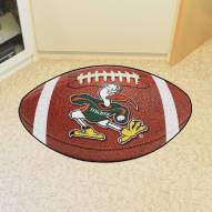 Miami Hurricanes Logo Football Floor Mat
