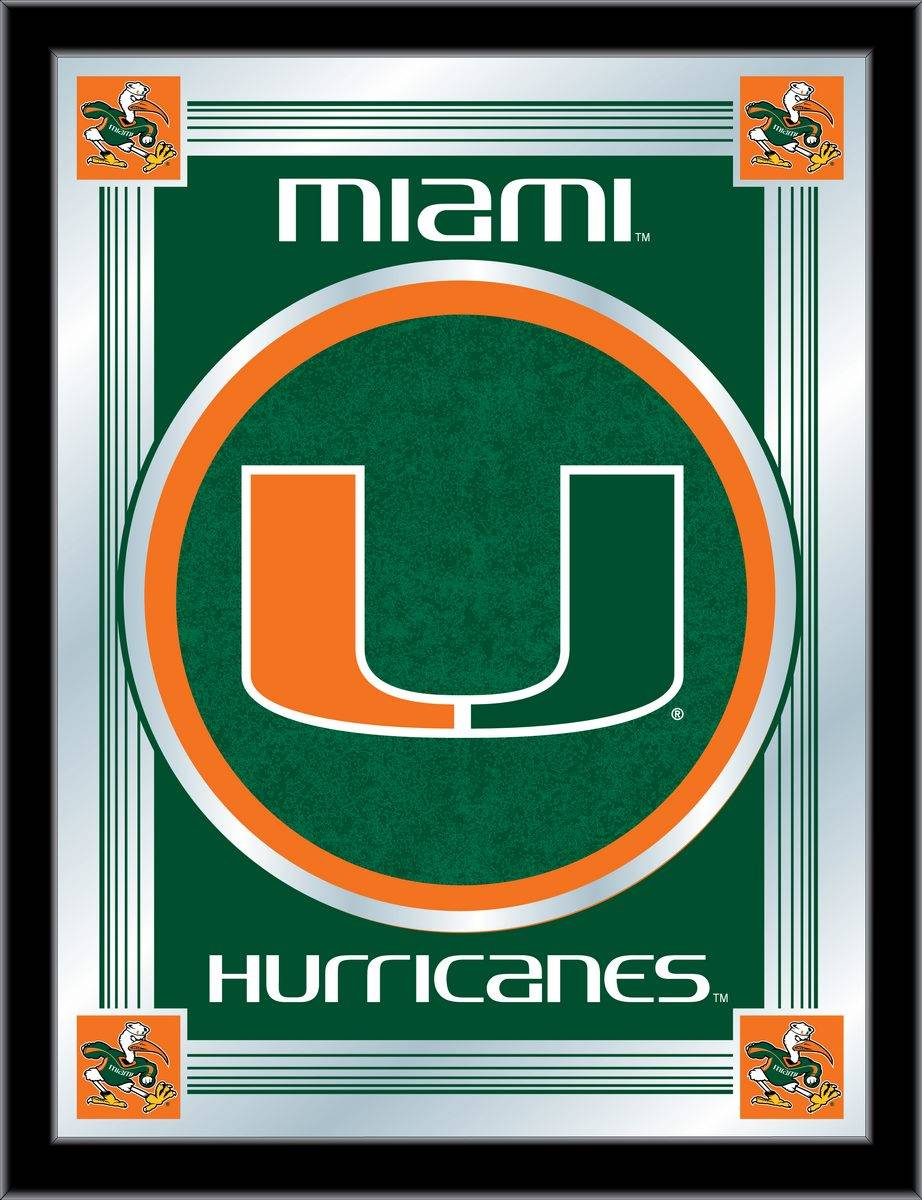 Miami Hurricanes Logo Mirror